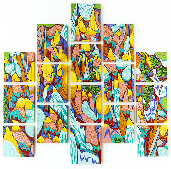 David Disko - Panoramic View of Holes and Spires on the Pajarito Plateau | Contemporary Art Projects USA