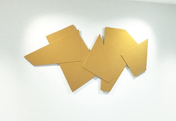 Luis Kaiulani - 1969 Gold Flat Shape | Contemporary Art Projects USA