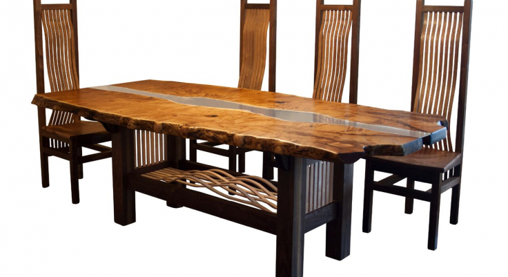 Exceptionnel Live Edge Dining Set Only Four Chairs Earl